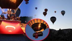 Balonlar 23 Nisan çocuk bayramı için havalandı