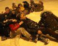 Poşetli kar eğlencesi