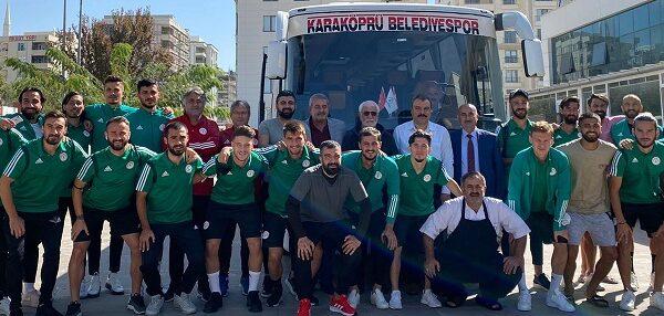 Karaköprü Belediyespor Bursa'ya hareket etti
