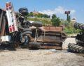 Kamyon ile traktör çarpıştı