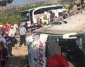 Askerleri taşıyan otobüs devrildi: 5 şehit, 27 yaralı
