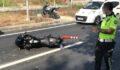 Karşıya geçmek isteyen anne kıza motosiklet çarptı