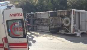 İşçisi taşıyan midibüs kazasında ölü sayısı 2'ye yükseldi