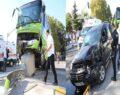 Hafif ticari araçla halk otobüsü çarpıştı: 7 yaralı