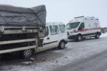 Şanlıurfa'da kar yağışı kazalara sebep oldu