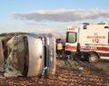 İşçileri taşıyan midibüs kaza yaptı