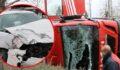 İtfaiye aracı ile otomobil çarpıştı: 7 yaralı