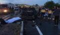 Korkunç kaza: 2 ölü, 1 yaralı