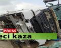 Şanlıurfa'da tırın devrilmesi sonucunda sürücü ağır yaralandı