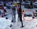 Motosiklet yaşlı adama böyle çarptı