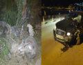 Alkollü sürücü motosiklet ile kafa kafaya girdi
