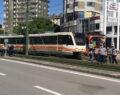 Tramvay kazası ucuz atlatıldı