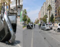 Otomobil 5 araca çarptı: 1 ağır 2 yaralı