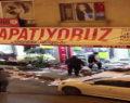 Saldırganlar mağazayı talan ettiler