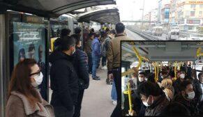Metrobüslerde pes dedirten görüntü