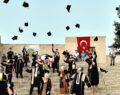 Şanlıurfa'da sosyal mesafeli mezuniyet töreni