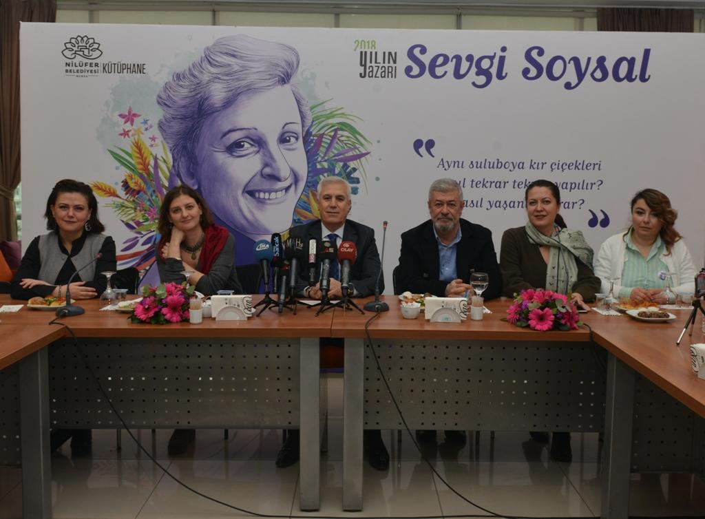 Nilüfer'de 2018 yılının yazarı Sevgi Soysal
