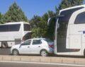 Otobüsler birbirine girdi