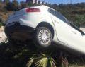 Kontrolünü kaybeden otomobil ağaca çıktı
