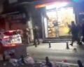 Polis araçlarına saldırı kamerada