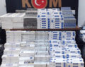 Binlerce kaçak sigara ele geçirildi