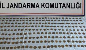 Roma dönemine ait 296 sikke ele geçirildi: 4 gözaltı
