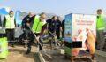 Büyükşehir de gönüllüler sokak hayvanları için sahaya indi