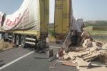 Şanlıurfa'da tır kazası ucuz atlatıldı