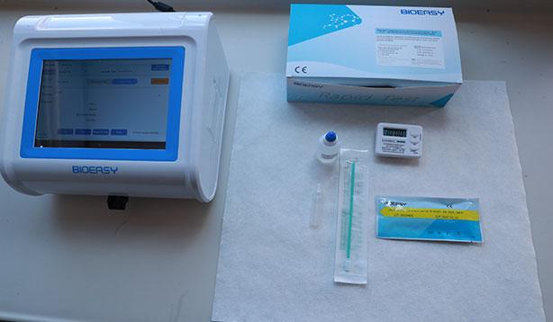 Koronavirüs testi 15 dakikada çıkacak
