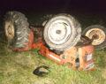 Traktör kazası ucuz atlatıldı