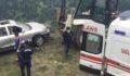 Otomobil uçuruma yuvarlandı
