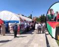 Şanlıurfa'da Filistin'e destek çadırı