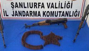 Şanlıurfa'da kalaşnikof tüfek ele geçirildi