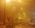 Şanlıurfa'da boş kalan cadde ve sokakları sis kapladı