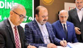 Futbol dünyası ve spor evinin protokolü imzalandı