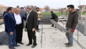 Demirkol, kültür evi inşalarını inceledi