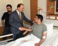 Şanlıurfa valisi yaralanan bekçileri ziyaret etti