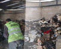 Yanan evi belediye temizledi