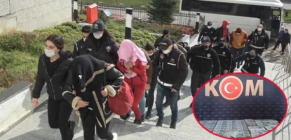 Milyonluk vurgun yapan 9 kişi tutuklandı