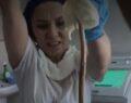 Uyuyan kadının ağzından giren yılan ameliyatla çıkarıldı