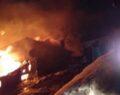 Bacadan çıkan yangın evi kül etti