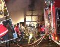 Yangında itfaiye eri hastaneye kaldırıldı