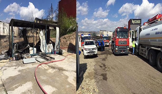 Tiner fabrikasında çıkan yangında iki işçi hayatını kaybetti