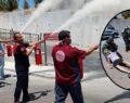 Şanlıurfa'da gerçeği aratmayan yangın tatbikatı