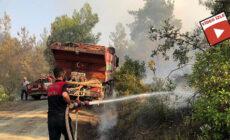 Şanlıurfa itfaiyesi'nden Osmaniye'deki yangına müdahale