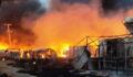 Şanlıurfa'da çadır kentte yangın