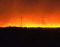 Suriye sınırında korkutan yangın