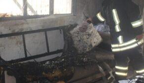 Feci yangında iki kardeş ağır yaralandı