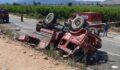 Orman yangınına giden ekip aracı kaza yaptı: 2 ölü