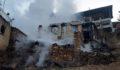 Yangında sekiz ev kül oldu